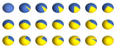 wykres kołowy: Ilustracja wykres koÅ'owy procent grafika bitmapowa (od 0% do 100% przyrostami 5%)
