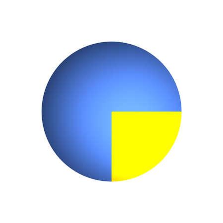 Bitmap Illustration of Business Pie Chart (25% + 75%) illustration