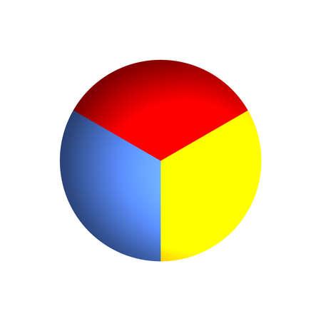 Bitmap Illustration of Business Pie Chart (33% x 3) illustration