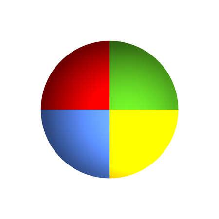 diagrama circular: Mapa de bits, ilustraci�n de un gr�fico de sectores de negocios (25% x 4)