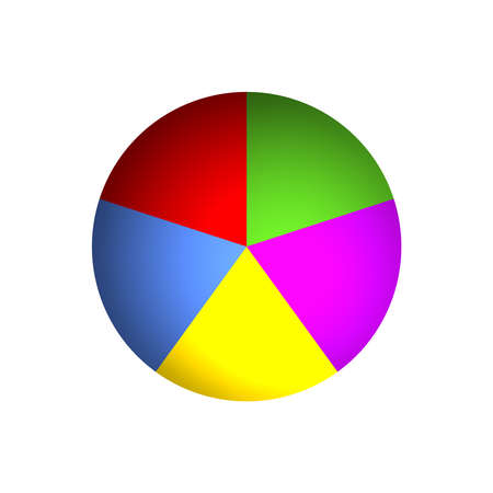 Bitmap Illustration of Business Pie Chart (20% x 5)