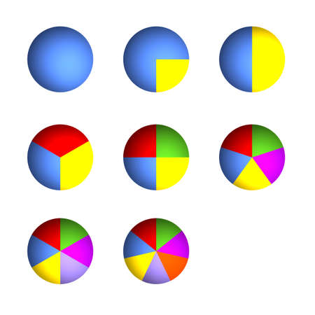 3D Bitmap Illustrations of Business Pie Charts (Jpeg file has clipping path)