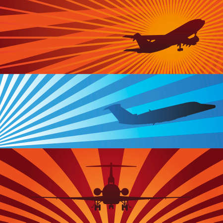 boeing: Airplanes in Flight Banners