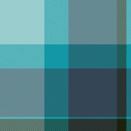Teal Colored Bitmap Tartan Cloth Seamless Pattern Stock Photo