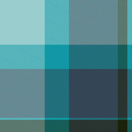 Teal Colored Bitmap Tartan Cloth Seamless Pattern Stock Photo