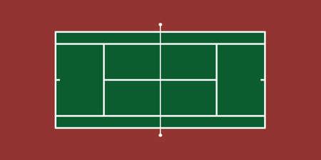 テニスコート (ハードコート) のイラスト  イラスト・ベクター素材
