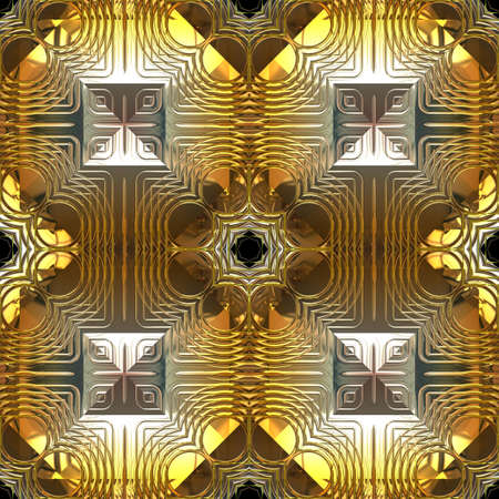 Abstract Gold and Silver Reflection Seamless Pattern Stock Photo - 10880777