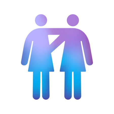 Pictogram of Gay Female Couple
