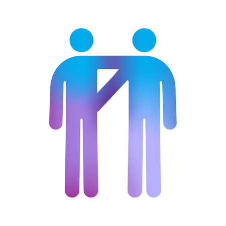 Pictogram of Male Gay Couple Stock Vector - 11277556