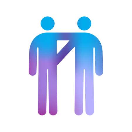 nude mann: Piktogramm der M�nner Homosexuell Couple Illustration