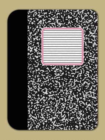 bitmap: Notebook Cover Bitmap - Illustration Stock Photo