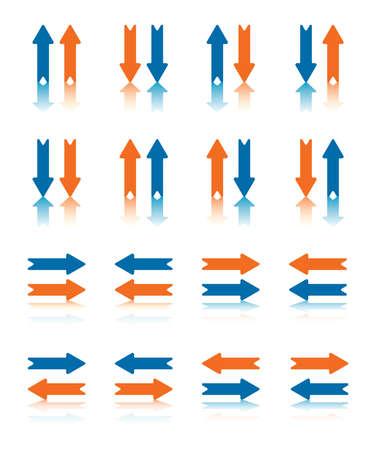 flèche double: Paires de flèches Collection