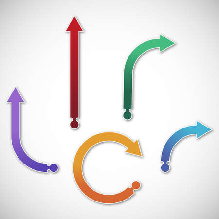 flechas curvas: Colecci�n de flechas de gradiente Vectores