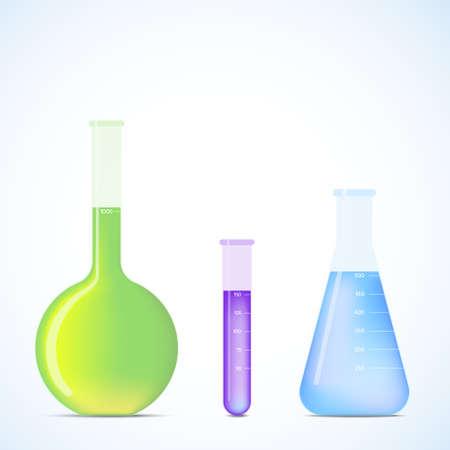 laboratory glass: Science Flasks  eps v 10  Illustration