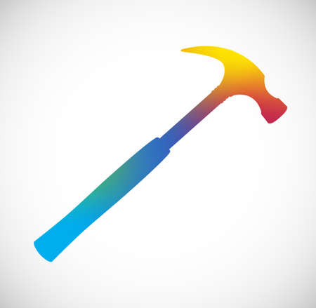 handy: Gradient Color Hammer Silhouette