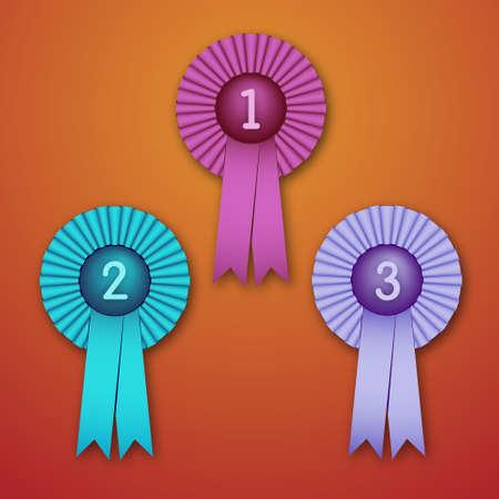 beauty pageant: Vector Illustration of Award Ribbons  eps v 10