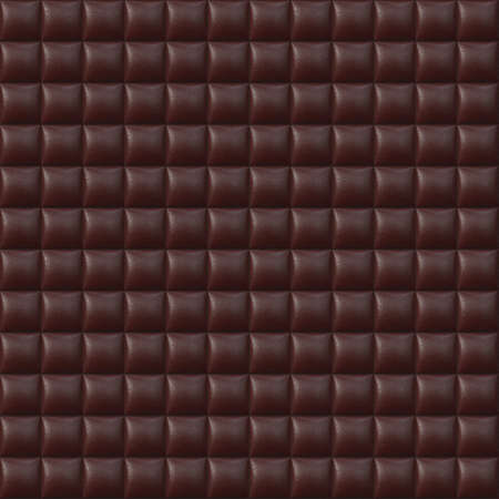 Red Upholstery Leather Seamless Pattern - Hyper Realistic Illustration Stock Illustration - 12941162