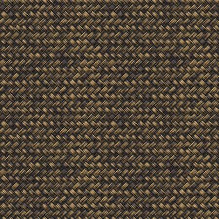 wicker basket: Rattan Basket Weave Seamless Pattern Illustration Stock Photo