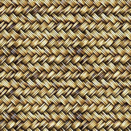 籐バスケット織りのシームレスなパターン図 写真素材