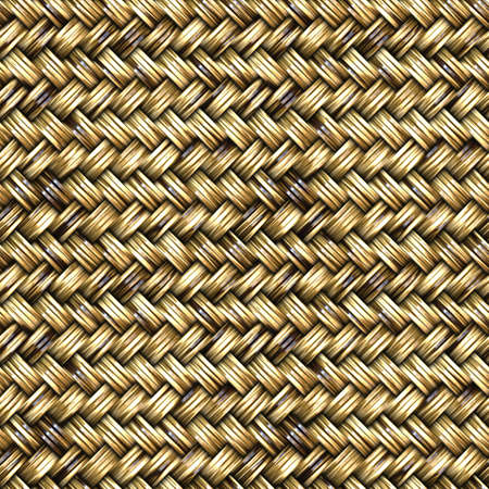 Rattan Basket Weave Seamless Pattern Illustration Stock Photo