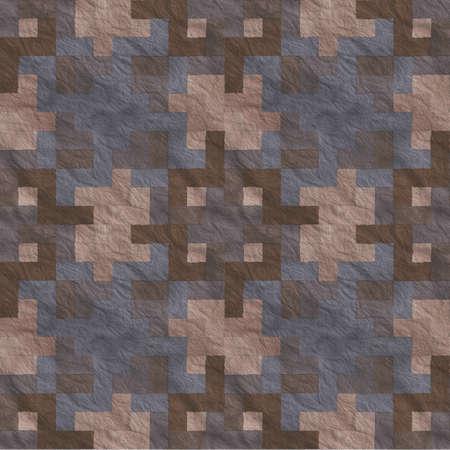 hyper: Ancient Stone Floor Seamless Pattern - Hyper Realistic Illustration