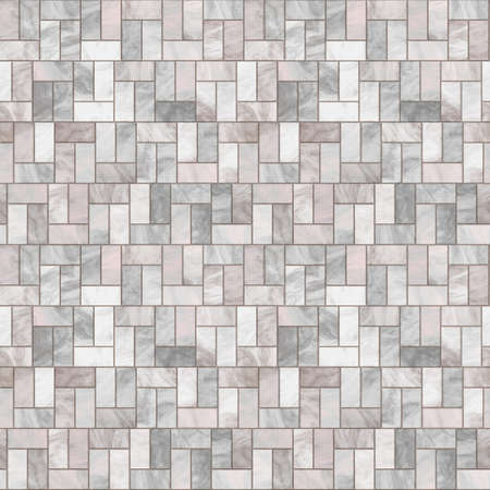 stone texture: Stone Floor Seamless Pattern - Hyper Realistic Illustration Stock Photo