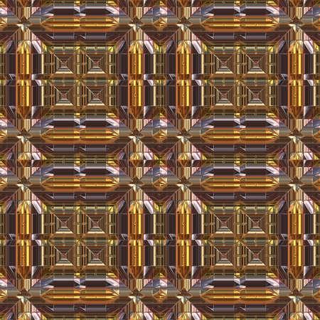 hyper: Luxury Metal Seamless Pattern - Hyper Realistic Illustration