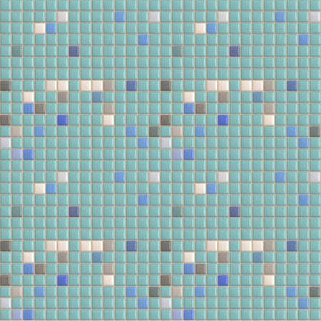 hyper: Swimming Pool Tiles Seamless Pattern - Hyper Realistic Illustration