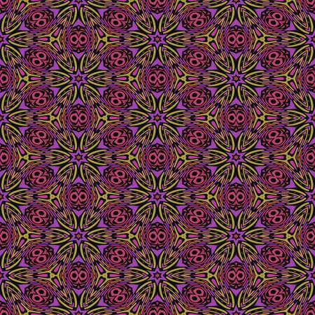 evocative: Abstract Jungle Evocative Seamless Pattern Bitmap Illustration