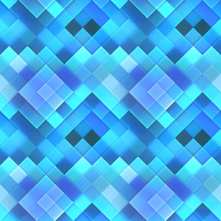 bitmaps: Blue Dynamic Squares Bitmap Seamless Pattern  Stock Photo
