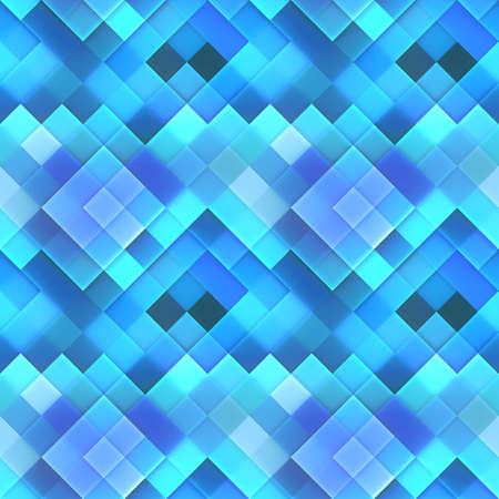 3d bitmap: Blue Dynamic Squares Bitmap Seamless Pattern  Stock Photo