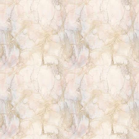 ピンク、桃の大理石のシームレスなパターン図