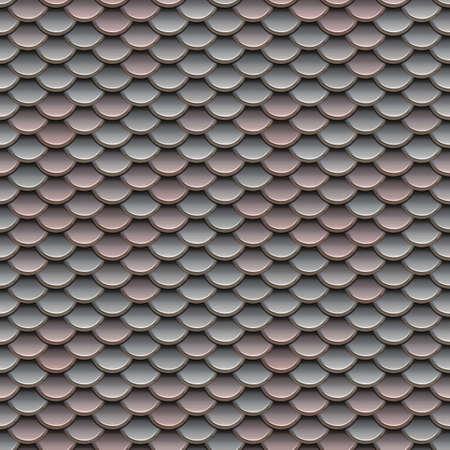 escamas de peces: Las escalas de color rosa y plata Ilustraci�n Seamless