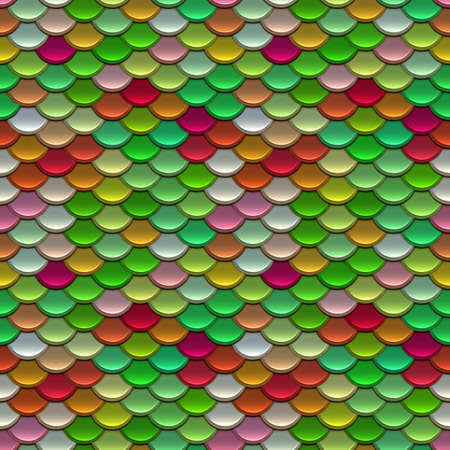 armour: Mixed Colours Scales Seamless Pattern Illustration