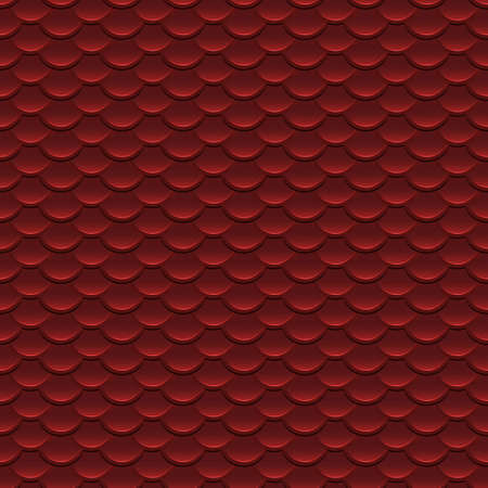 armour: Red Scales Seamless Pattern Illustration