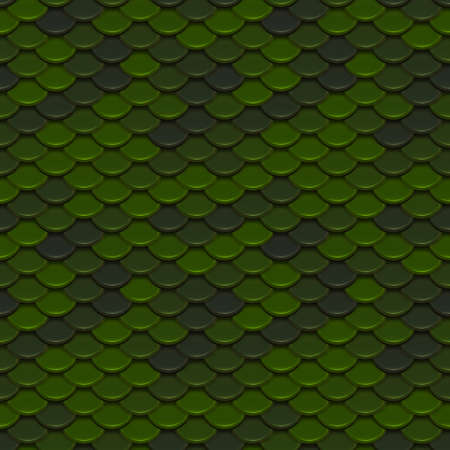 tile pattern: Green Scales Seamless Pattern Illustration Stock Photo