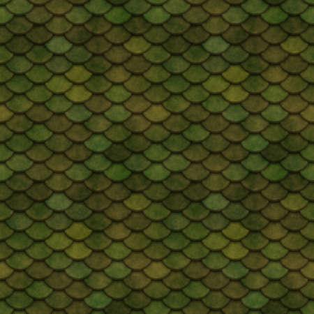 Green Scales Seamless Pattern Illustration illustration