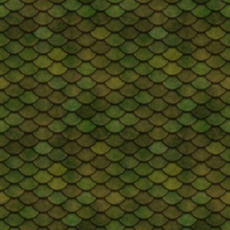 fish scales: Green Scales Seamless Pattern Illustration Stock Photo