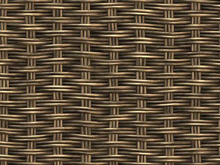 Basket Woven Seamless Background Hyper-Realistic Illustration  close-up detail  illustration