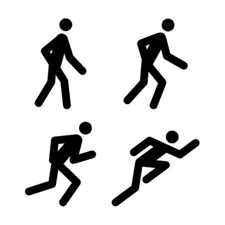 a walk: Running Pictogram Illustrations