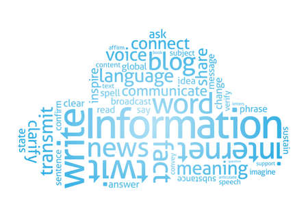 Cloud of Words  related to writing and language  Vector