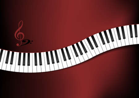 keyboard keys: Curved Piano Keyboard Background Illustration Illustration