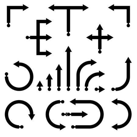 flechas curvas: Colección de flechas gradiente Vectores