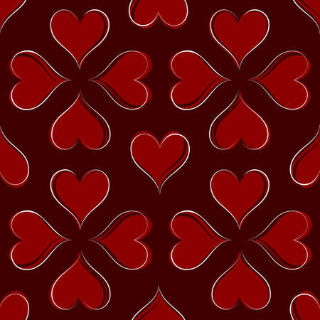 tileable: Hearts Seamless Pattern Illustration  Illustration