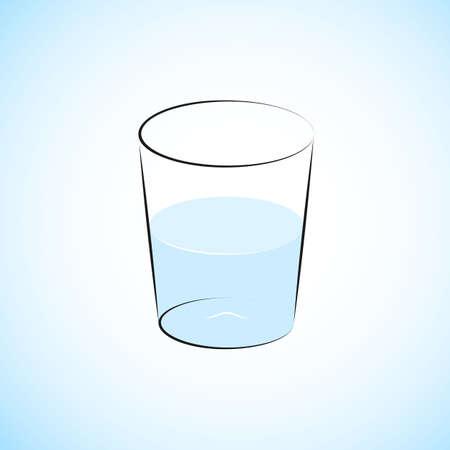 restauration: Half Filled Water Glass Illustration
