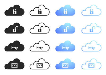 Cloud Computing Icons - Set 4 Stock Vector - 17435367