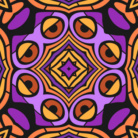 Three Axis Symmetric Abstract Seamless Pattern - Cartoonish Style Stock Vector - 18019410