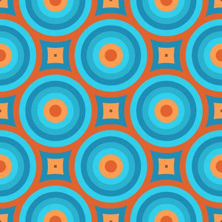 幾何学的なビンテージ レトロな壁紙のシームレスなパターン図