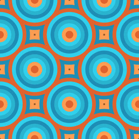 Geometric Vintage Retro Wallpaper Seamless Pattern Illustration