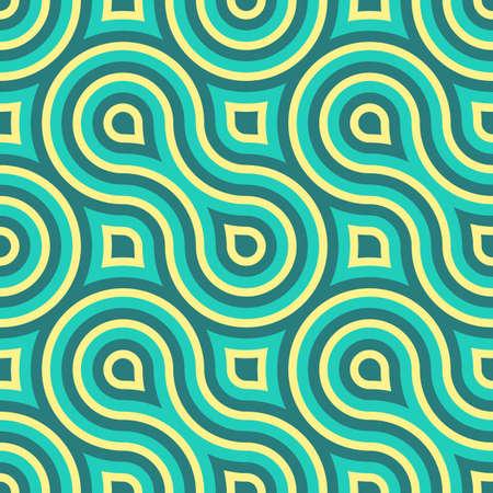 幾何学的なビンテージ レトロなシームレス パターン図